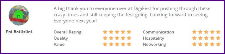 5 star review digifest